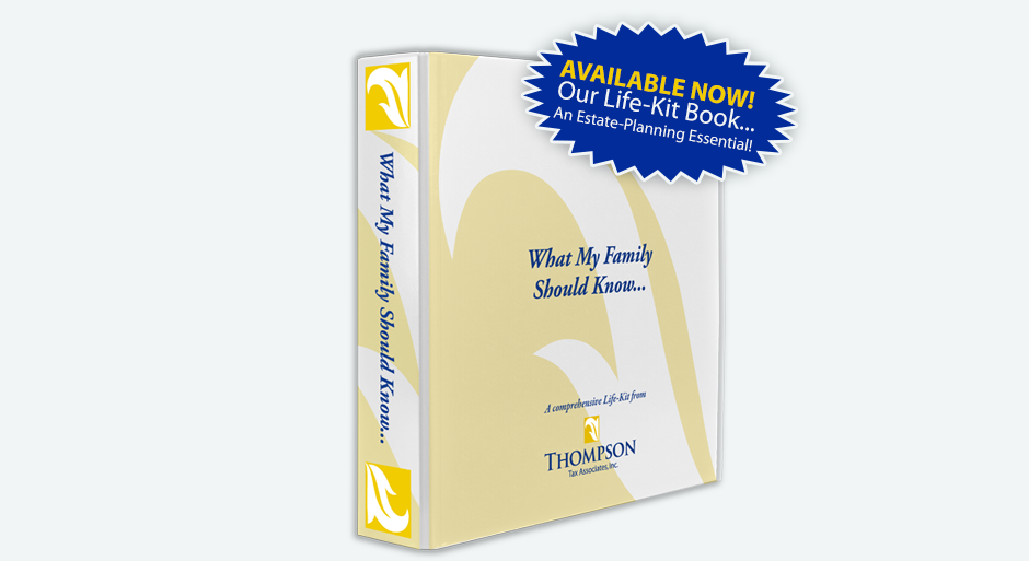 Live Kit Book from Thompson Tax Associates for Estate Planning