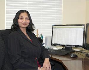 Hema at desk